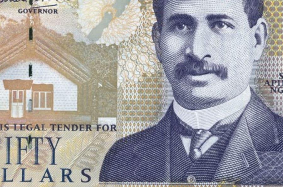 NEW ZEALAND - JUNE 15: 50 dollars banknote, 1990-1999, obverse depicting Sir Apirana Turupa Ngata (1874-1950). New Zealand, 20th century. (Photo by DeAgostini/Getty Images)