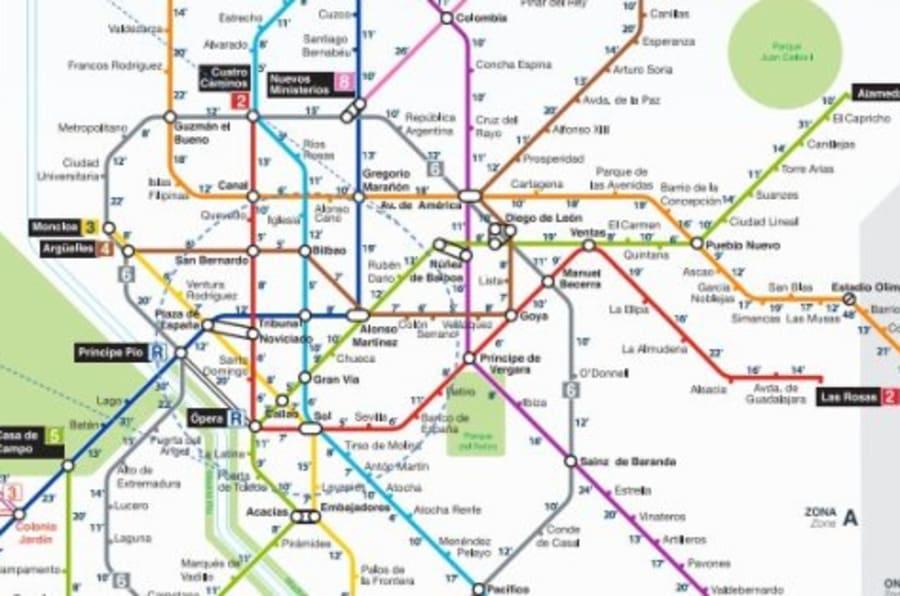 El plano del metro que esperabas cunto se tarda andando entre