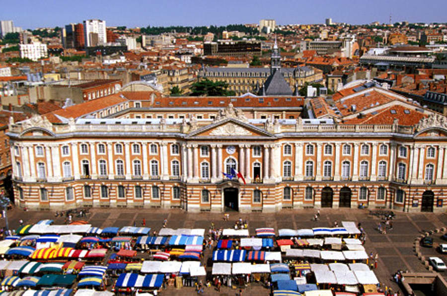 Capitole Square marketplace, Toulouse, France