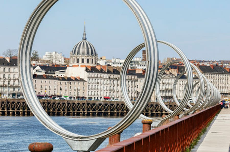 The Rings by Daniel Buren and Patrick Bouchain, at Nantes, Loire Atlantique, France.