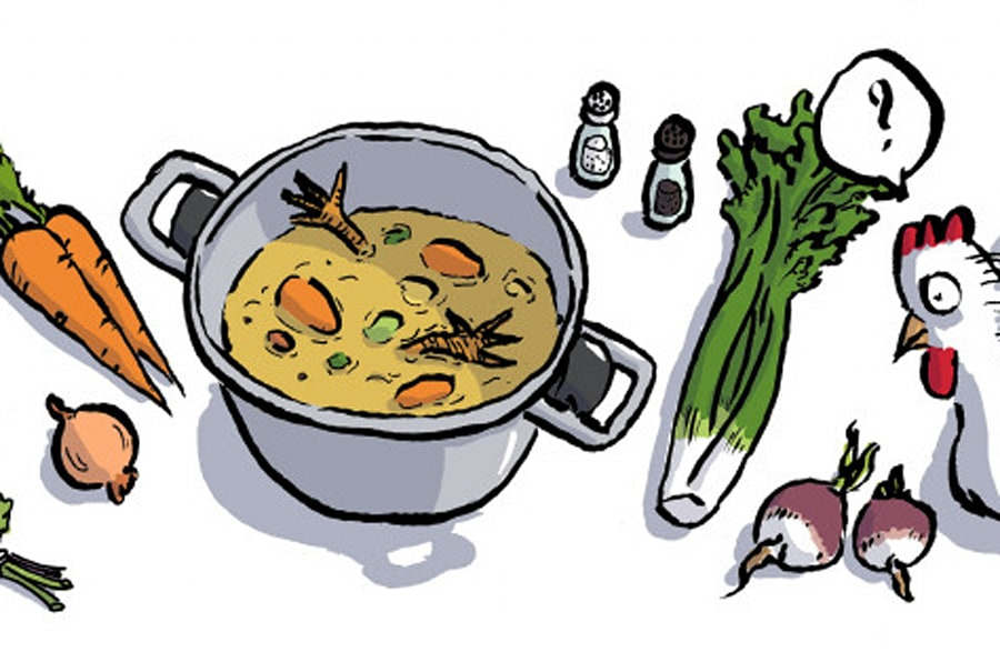 la recette du bouillon de poule comment une recette mill naire redevient une tendance culinaire. Black Bedroom Furniture Sets. Home Design Ideas