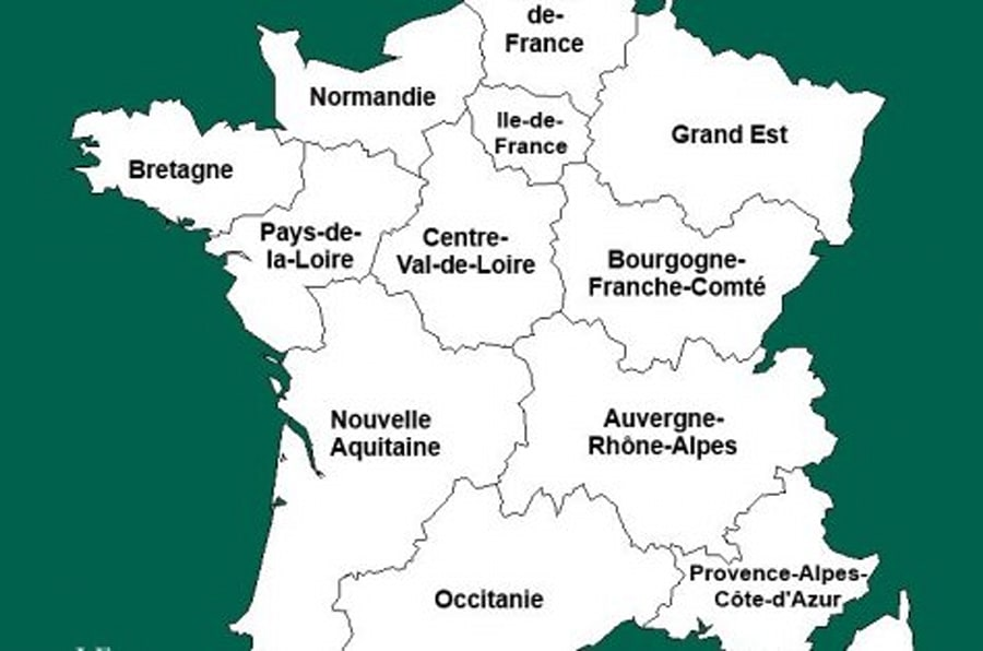 carte de france region 2017 - Photo
