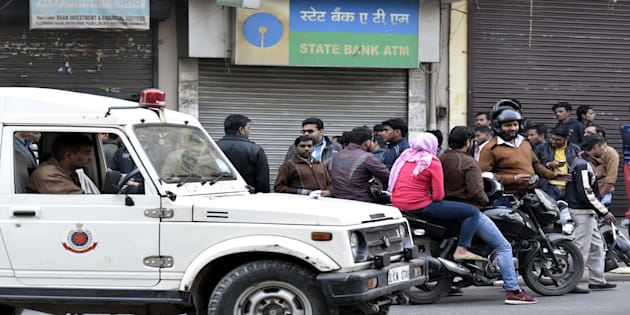 SBI ATM where cash van carrying Rs 10 lakh in new currency notes were looted.