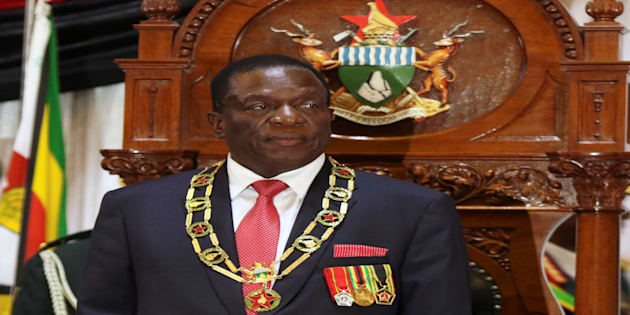 Zimbabwean President Emmerson Mnangagwa looks on after delivering the State of the Nation Address (SONA) in Harare, Zimbabwe, December 20, 2017. REUTERS/Philimon Bulawayo