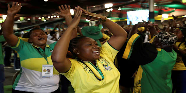 ANC members during the party's 54th national conference at the Nasrec Expo Centre in Johannesburg, December 18, 2017.