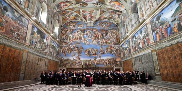 Afrescos de Leonardo da Vinci embelezam a Capela Sistina, no Vaticano.