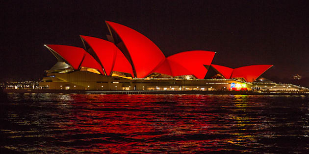 The Opera House went red last year to celebrate CNY.