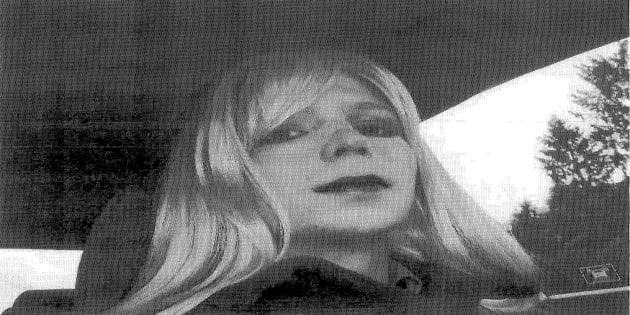 Demonstration for Chelsea Manning in London.