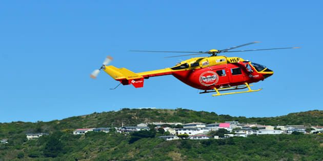 Westpac's Rescue Helicopter was enlisted to help the injured.