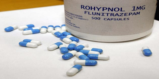 Confiscated Rohypnol pills in Tampere, Finland, 03 July 2003. (MERJA OJALA/AFP/Getty Images)