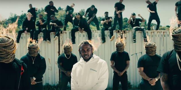"""Clipe de Kendrick Lamar para a faixa """"HUMBLE."""", do álbum """"DAMN."""", lançado em abril de 2017."""