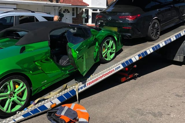 Lamborghini seized in raids on suspected county lines gang