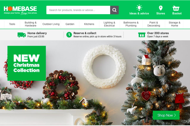 Homebase has been named Britain's worst online retailer for the second year running