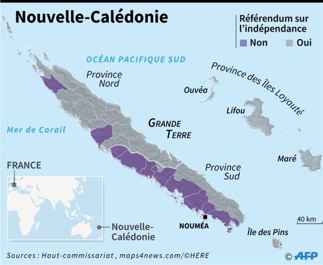 Nouvelle-Calédonie: ce que la carte des résultats dit sur l'archipel | Le Huffington Post