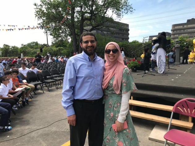 Oakville, Ont.-based engineer Yasser Ahmed Albaz, pictured with his daughter Maryam, has not been able to contact his family since February 18.