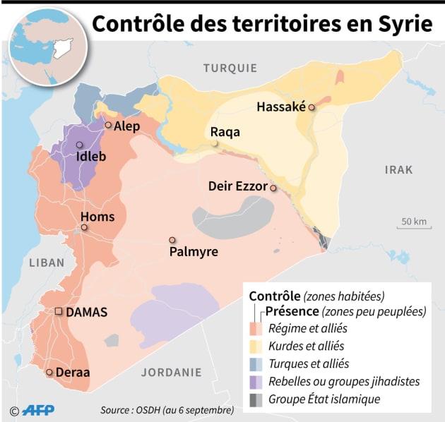 En Syrie, qui contrôle quoi, 7 ans après le début de la