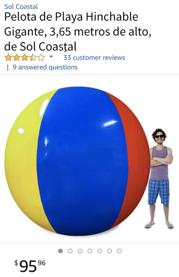 La hilarante reseña en Amazon de una pelota de playa gigante  5d46bd46a1c9