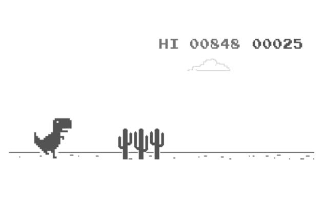 オフラインエラーでできる恐竜ゲーム。