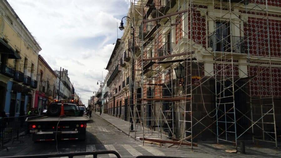 Casa de Alfeñique, uno de los edificios históricos de Puebla dañados por el sismo