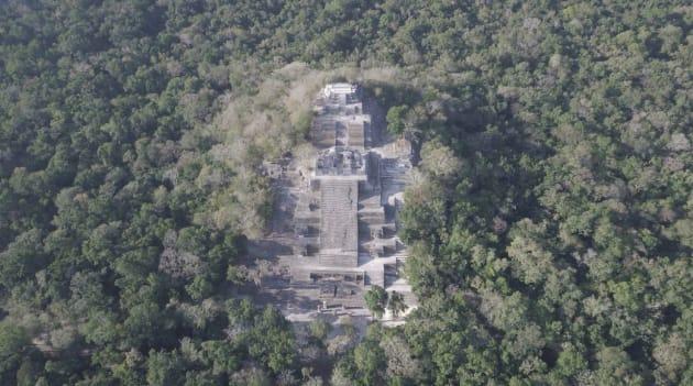 Punto geográfico del trayecto en donde se planea construir el Tren Maya en la Reserva de la Biosfera de Calakmul.