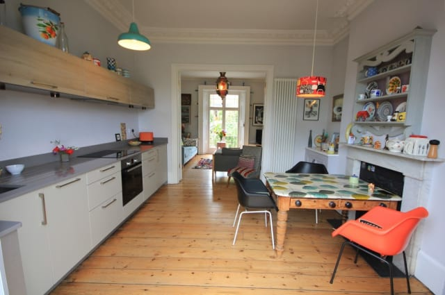 The kitchen of the Reading house