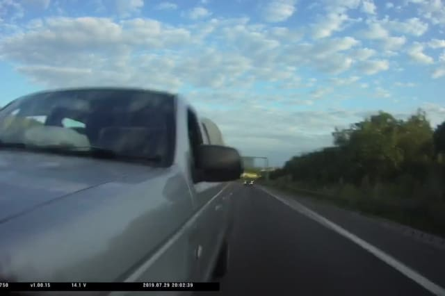 Terrifying footage of a high-speed hit-and-run on a UK motorway
