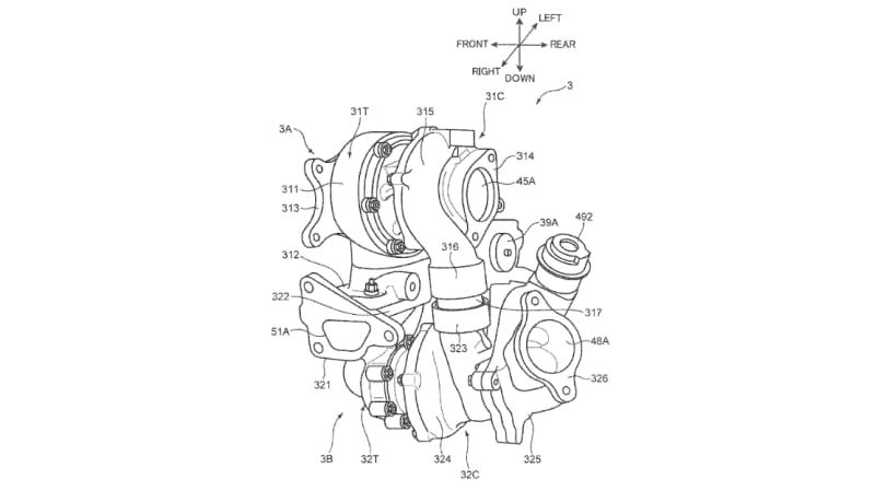 Mazda files patents for sequential twin-turbochargers on