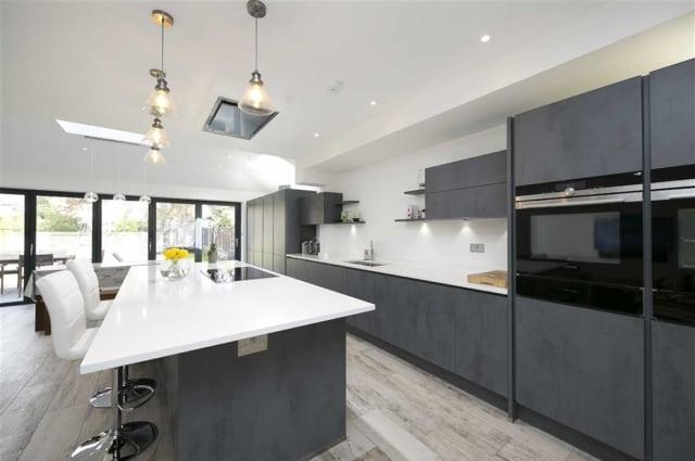 The kitchen of the Teddington house