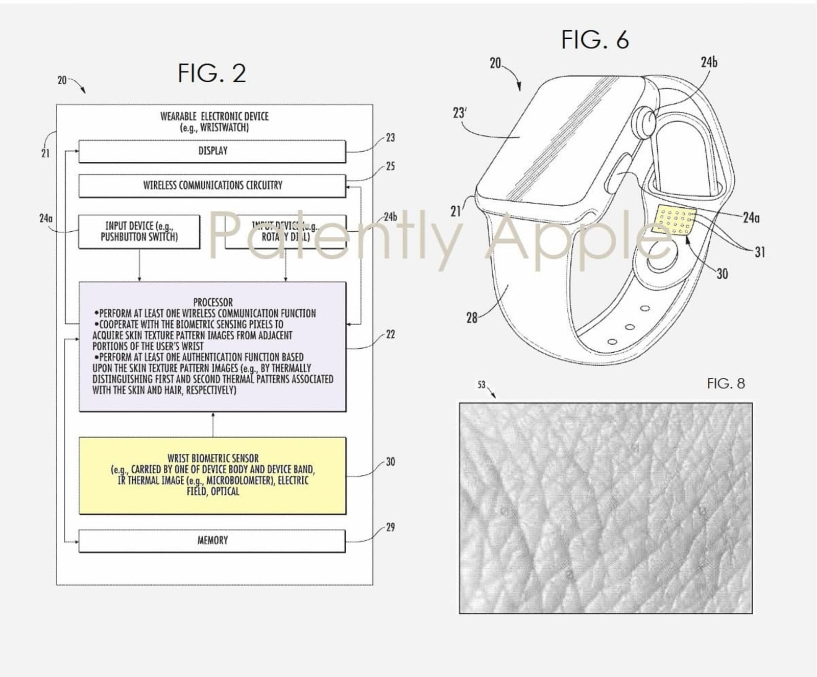 Apple Watch smart band patent
