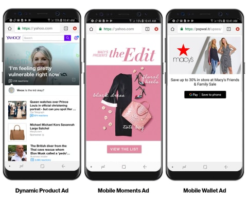 Macy's 3 Mobile Innovation Ad Formats