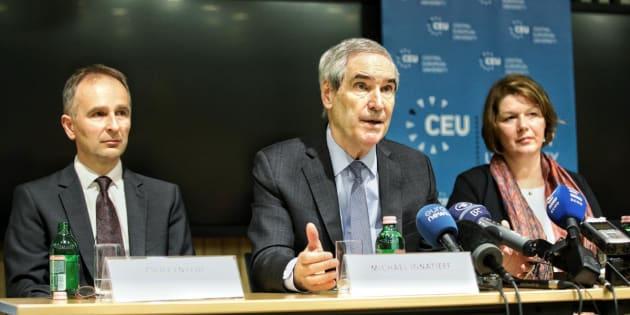ウィーン移転方針を発表したCEUの会見