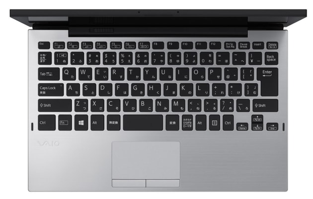 ▲13.3インチVAIO S13のキーボードと同等のサイズ