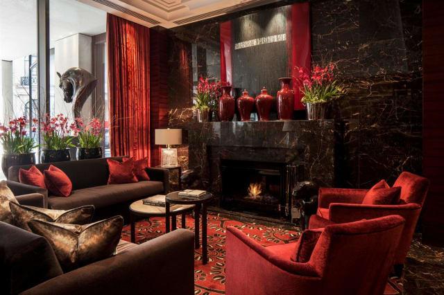 The opulent living room