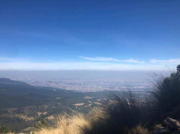 Vista de la CDMX desde el punto más alto del Valle de