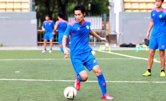 時国さん、香港レンジャースFC時代の練習風景