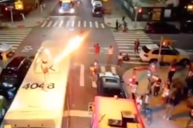Rapper with flamethrower in custody over NYC bus stunt