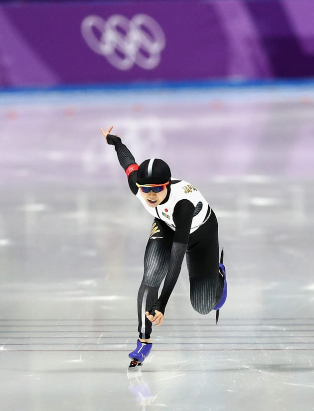 GANGNEUNG, SOUTH KOREA - FEBRUARY 12:  Miho Takagi of Japan during the Ladies 1,500m Long Track Speed Skating final on day three of the PyeongChang 2018 Winter Olympic Games at Gangneung Oval on February 12, 2018 in Gangneung, South Korea.  (Photo by Maddie Meyer/Getty Images)