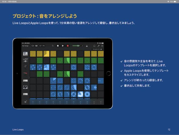 ▲「音楽」ではiPadに搭載されているGarageBandを利用して作曲