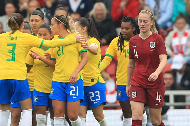 England pay for missed chances as poor run continues with Brazil defeat