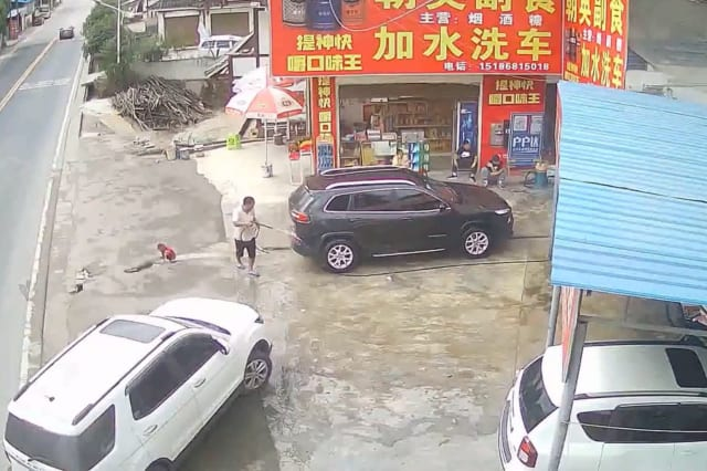 Chinese toddler miraculously survives after being run over by car