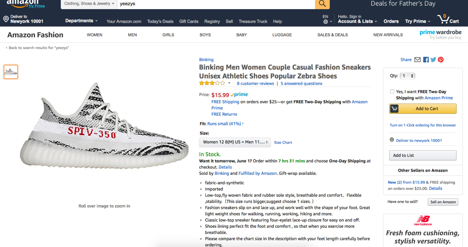 size 40 d7445 28e4d Amazon needs to get a handle on its counterfeit problem