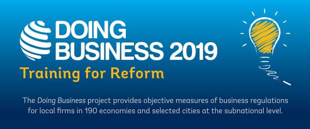 各国政府がこの1年間で、官僚主義を改め国内の民間セクターの参加を促すために過去最高の314件のビジネス改革を実施したと指摘。