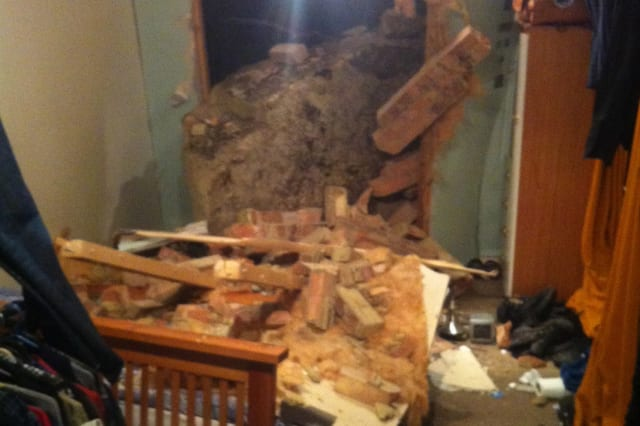 Giant boulder smashes through wall into man's bedroom during rockfall