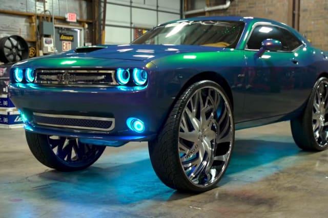Pimped Dodge Challenger Boasts MASSIVE 34-Inch Rims
