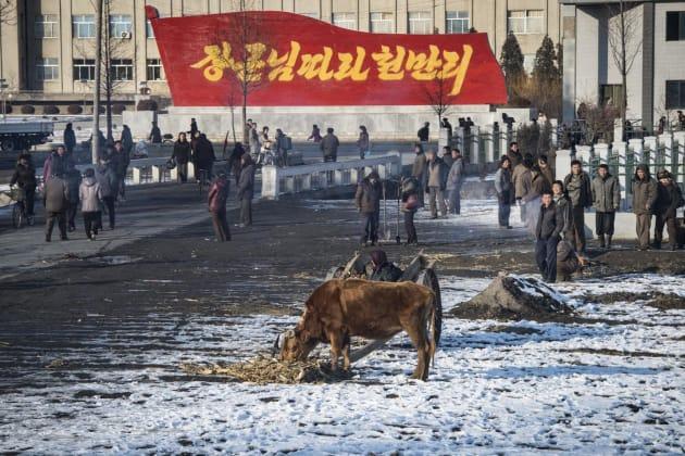 中朝国境の都市・会寧で撮影