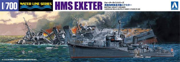 「限定 英国海軍 重巡洋艦 エクセター スラバヤ沖海戦」のパッケージ
