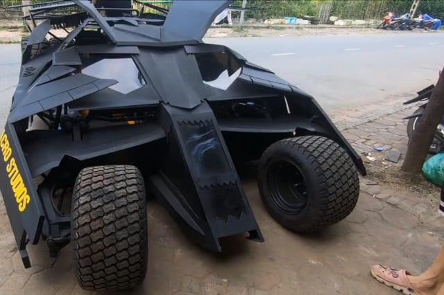 Vietnamese college student builds functional Batmobile