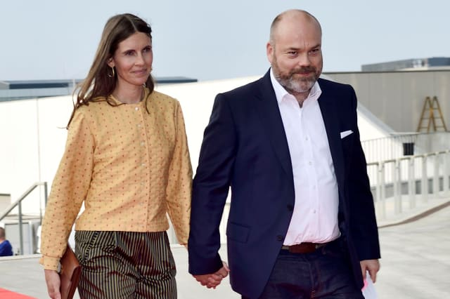 Bestseller company owner Anders Holch Povlsen and his wife Anne arrive at the celebration of the 50th birthday of Crown Prince Frederik of Denmark in Royal Arena in Copenhagen