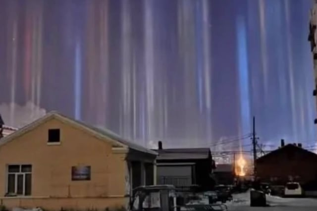 Amazing natural phenomenon seen above Chinese city