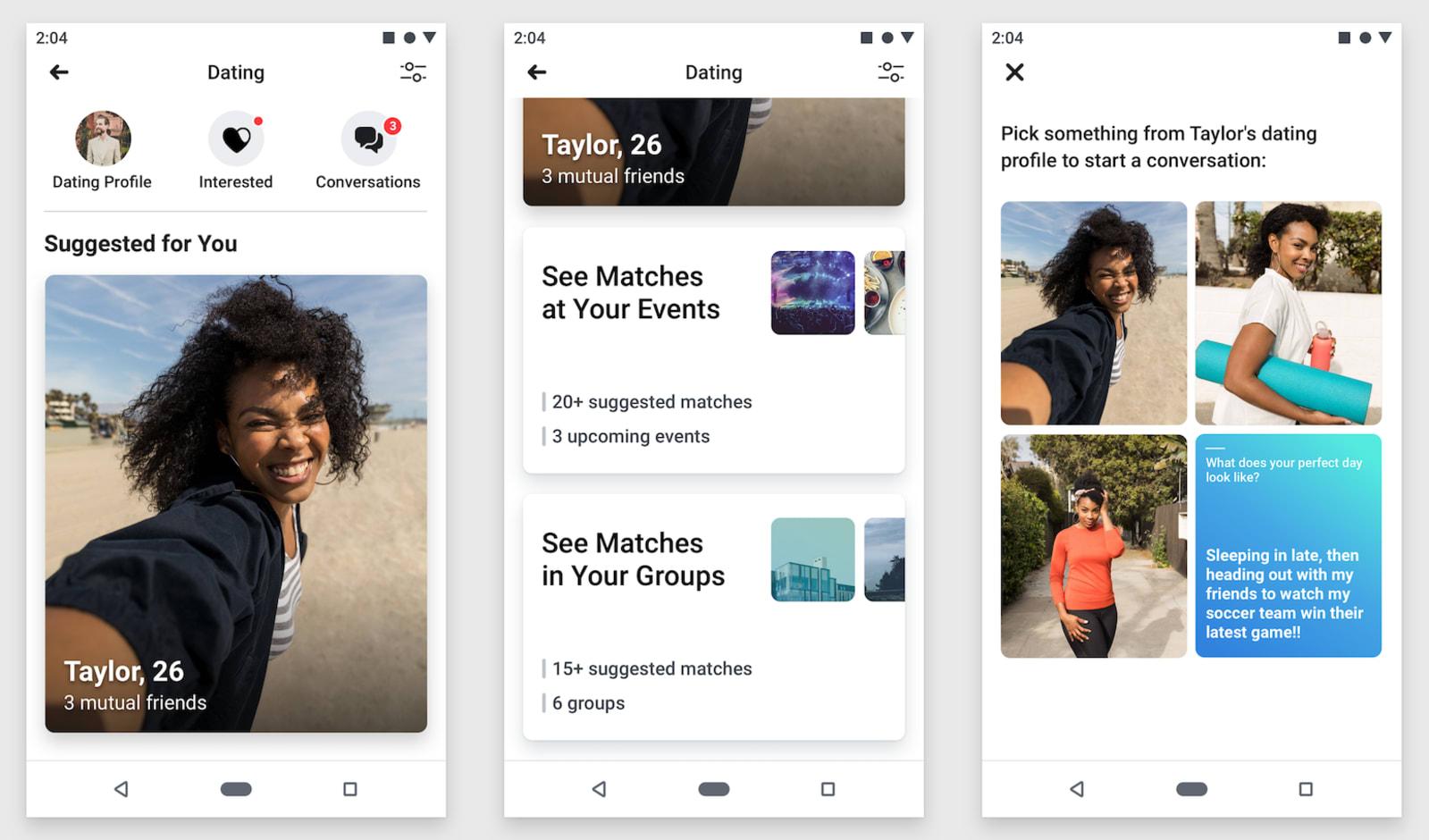 Facebook dating app